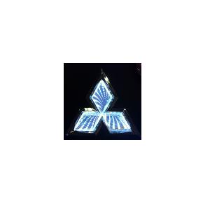 3D Emblem MITSUBISHI 7.6 cm x 8.7 cm